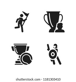 honor icon. 4 honor vector icons set. warrior, winner and trophy icons for web and design about honor theme