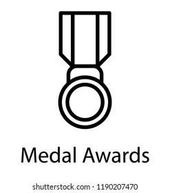 An honour for winner, medal icon