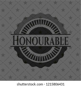 Honourable black emblem. Vintage.