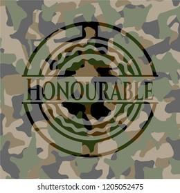 Honourable camo emblem