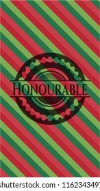 Honourable christmas emblem background.