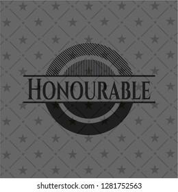 Honourable dark badge