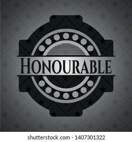 Honourable dark emblem. Vector Illustration. Detailed.
