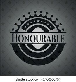 Honourable dark icon or emblem. Vector Illustration. Detailed.
