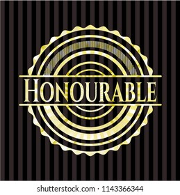 Honourable gold badge or emblem