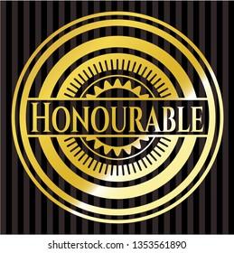 Honourable gold shiny badge