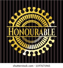 Honourable golden emblem