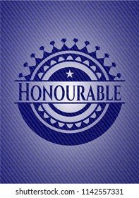 Honourable with jean texture
