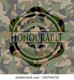 Honourable on camo texture