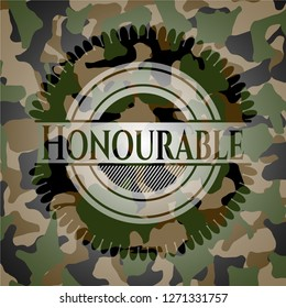 Honourable on camouflage pattern