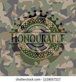 Honourable on camouflaged pattern