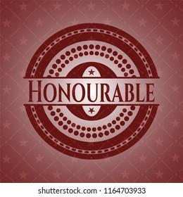 Honourable realistic red emblem