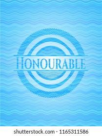 Honourable water style emblem.