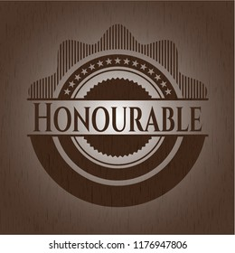 Honourable wood emblem. Vintage.