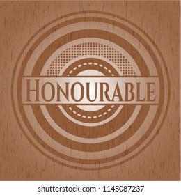 Honourable wooden signboards