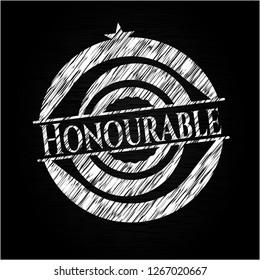Honourable written on a chalkboard