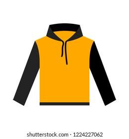 Hoodie flat icon. You can be used hoodie icon for several purposes like: websites, UI, UX, print templates, promotional materials, info-graphics, web and mobile phone apps.
