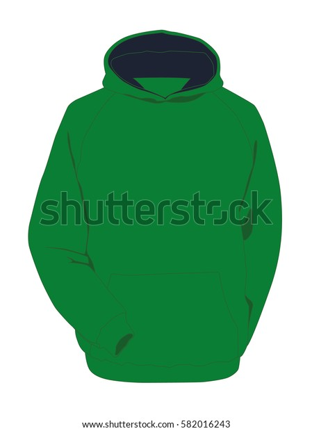 Hoodie green realistic vector illustration isolated