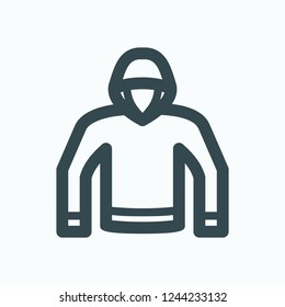 Hoodie icon, pullover hoodie vector icon