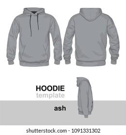 Hoodie Mock Up Template Ash