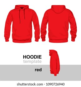 Hoodie Mock Up Template Red