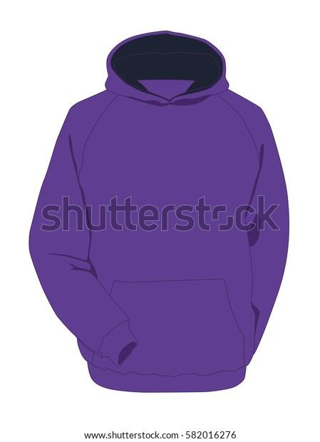 Hoodie purpure realistic vector illustration isolated