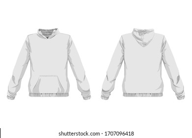 Hoodie Sweater front and back view design.