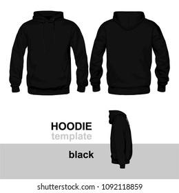 Hoodie Template Black