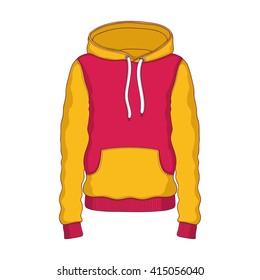 Hoodie yellow-red, clothing, hood