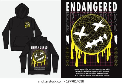 Hoodies with Character Streetwear Design, Emotion, Endangered