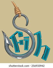 hook fish logo
