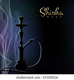 Hookah bar menu concept. Vector illustration