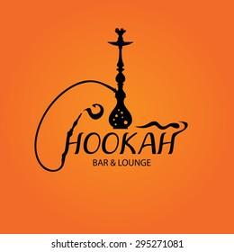Hookah Bar Menu Cover, Nargila Arabic Smoke, Hubble bubble tube, Restaurant, Cafe, Lounge (Vector Art)