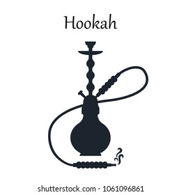 hookah, black and white vector icon. silhouette. shisha, hooka, bong, kalian.