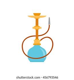 Hookah icon. Arab smoking hookah.Shisha with smoking pipe vector illustration