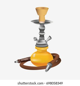 Hookah icon. Tobacco tools hookah on white background. Flat vector stock illustration.