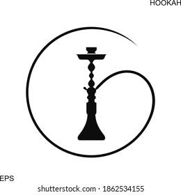 Hookah logo. Isolated hookah on white background