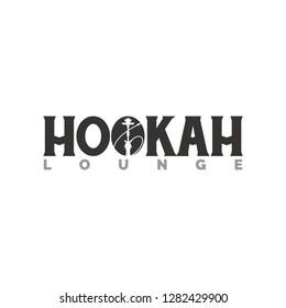 hookah lounge logo illustration - Shutterstock ID 1282429900