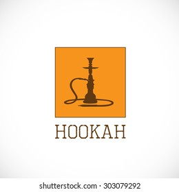 Hookah orange square logo