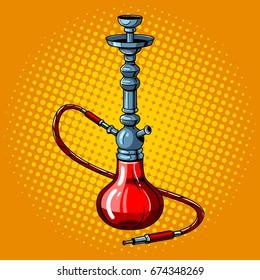 Hookah pop art retro vector illustration. Comic book style imitation.