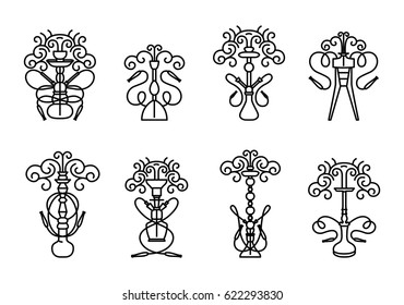 Hookah symbol illustration with text