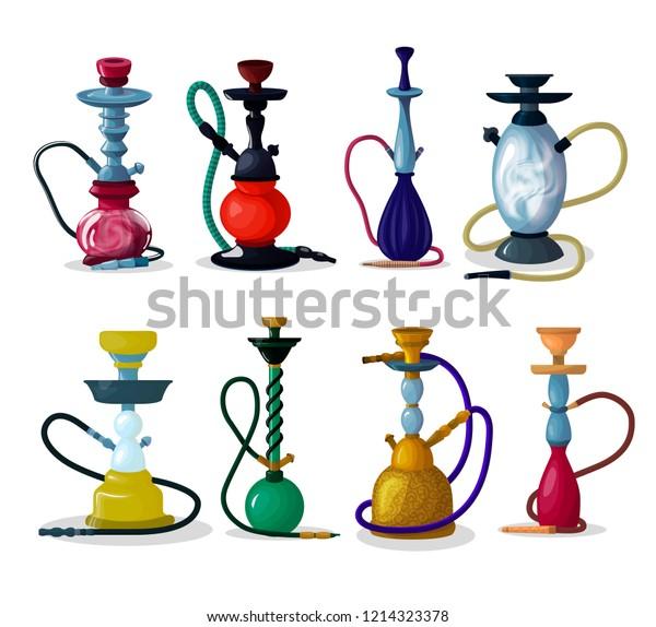 Hookah Vector Tobacco Hooka Smoke Pipe Stock Vector (Royalty