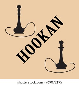 Hookan black vector icon.