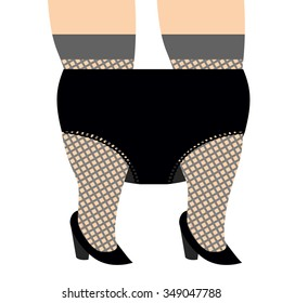 Hooker Remove panties. Whore and underwear. Big Black Lace panties and to thick woman. Fat womens legs and trunks.