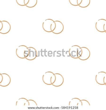Hoop Earrings Icon Cartoon Style Isolated Stock Vector Royalty Free