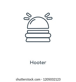 Hooter concept line icon. Linear Hooter concept outline symbol design. This simple element illustration can be used for web and mobile UI/UX.