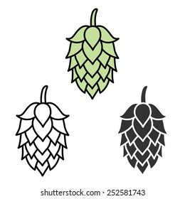 Hop beer sign symbol label