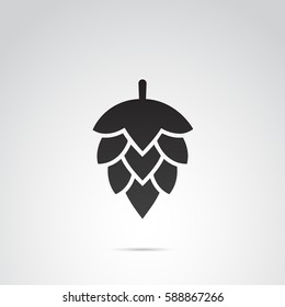 Hop icon isolated on white background. Vector art.