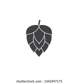 Hop icon. Vector hop icon label isolated.