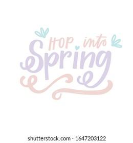 Hop into Spring pastel design
